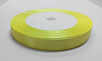 Лента атлас 1 см желтая