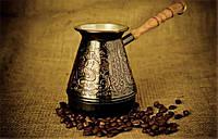 """Турка для кофе медная (400 мл) """"Нимфы"""""""