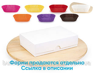 Коробка для эклеров, белая, без окошка 230*150*60 (10 штук)