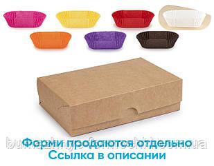 Коробка для эклеров, крафтовая, без окошка 230*150*60