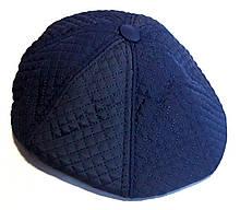 Кепка теплая восьмиклинка хулиганка Fashion плащевка/флис 60 см, синяя