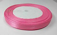 Лента атлас 1 см ярко-розовый