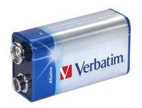 Бат VERBATIM Battery 9V-6LR61Block Alkaline Blister 1x1шт 49924
