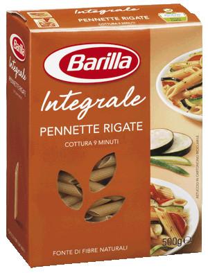Макароны твердых сортов Barilla Pennette Rigate «Integrale», с отрубями 500 гр.