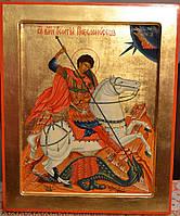 Писаные иконы. Икона писаная Георгий Победоносец 31х26х3см