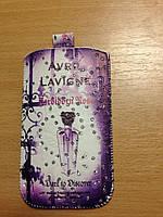 """Сумочка для мобильного телефона универсальная  Avril Lavigne (3,5""""/ 4,0"""" /4,8"""")"""