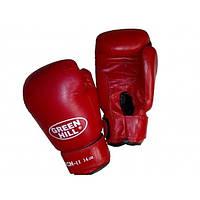 """Перчатки боксерские """"PUNCH 2"""" Green Hill кожа 12 oz"""
