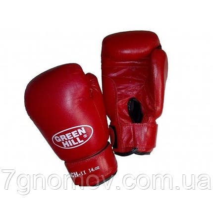 "Перчатки боксерские ""PUNCH 2"" Green Hill кожа 12 oz, фото 2"