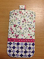 """Сумочка для мобильного телефона универсальная  Wild Flowers (3,5""""/ 4,0"""" /4,8"""")"""