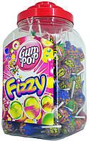 Леденцы на палочке+жвачка Argo Gum Pop Fizzy (100шт.)