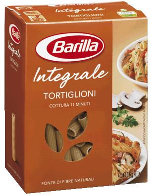 Макароны твердых сортов Barilla Tortiglioni «Integrale», с отрубями 500 гр.