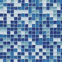 Микс голубая с синим стеклянная мозаика Vivacer DAF6, фото 1