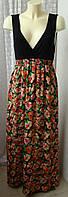 Платье женское легкое летнее яркое модное макси бренд Mela р.46 5336