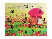 Часы настенные кварцевые Влюбленные под зонтом