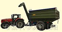 Перегрезочный бункер накопитель ПБН-20 для тракторов Т-150, МТЗ 1210, ХТЗ  грузоподъемность 16 т, объем 20 м3