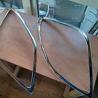 Накладки на передние фары на Мерседес Спринтер 906 с 2006> (нерж) OMCARLINE.