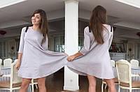 Свободное платье трапеция