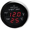 Термометр-вольтметр в прикуриватель