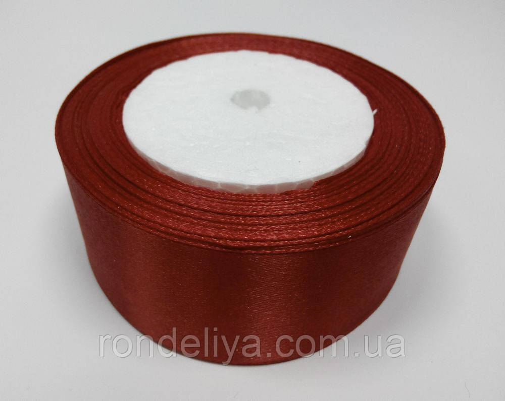 Лента атлас 4 см красная