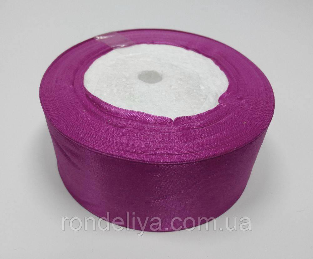 Лента атлас 4 см розово-сиреневый