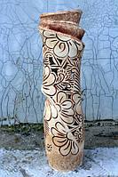 Прекрасная резная ваза Иллюзия