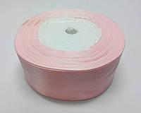 Лента атлас 4 см нежно-розовый