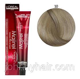 Крем-краска для волос L'Oreal Professionnel Majirel №10 Очень-очень светлый блондин 50 мл