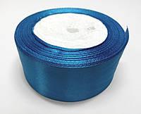 Лента атлас 4 см светло-синий