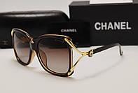 Женские солнцезащитные очки Chanel 1762 цвет коричневый