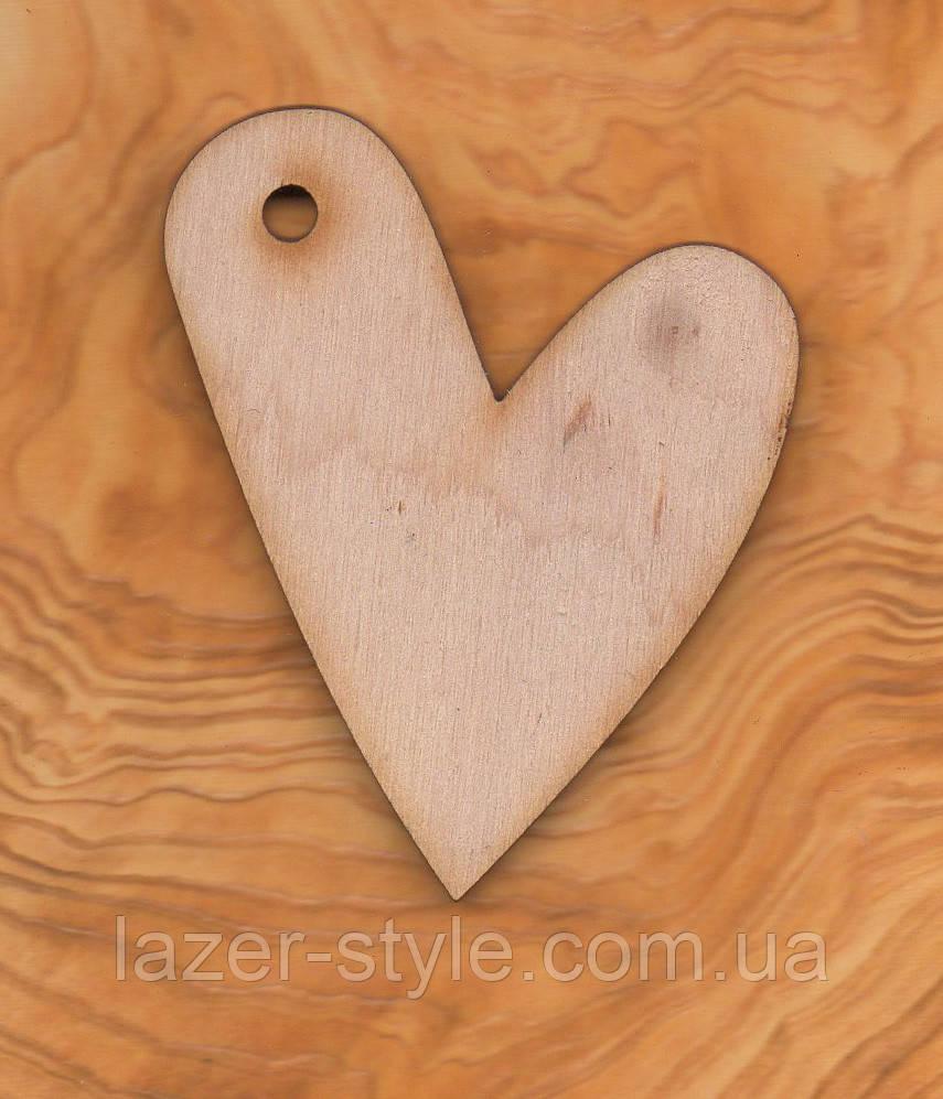 """Дерев'яна Заготовка для декупажу та розпису """"Серце 2"""""""