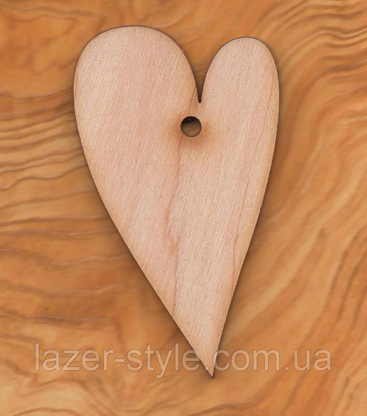 """Дерев'яна Заготовка для декупажу та розпису """"Серце 10"""""""
