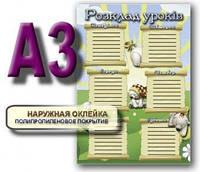 Доска сухостираемая Расписание уроков Веселый медвеженок 070203 VM-01
