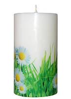 Свеча декоративная ромашки d-6  h-10 cm