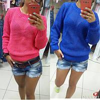 Женский свитер-сетка  турция