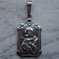 Срібна підвіска-ладанка Свята Богородиця, 7 грам, фото 3