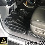 Килимки Lexus GX-470 2002-2009 Шкіряні 3D (UZJ120) Тюнінг Лексус ГХ 470, фото 2