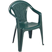 Пластиковое кресло Ole (Malibu) зелёное