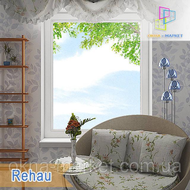 Одностворчатое глухое окно Rehau 60. Цена без установки