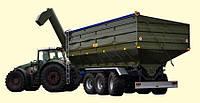 Перегрузочный бункер накопитель ПБН-40 (трехосный)