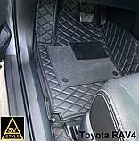 Килимки на Mercedes S Class W221 3D (2005-2013) Шкіряні з Текстильними Накидками, фото 6