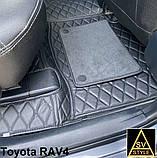 Килимки на Mercedes S Class W221 3D (2005-2013) Шкіряні з Текстильними Накидками, фото 8