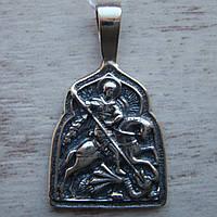 Серебряная подвеска-ладанка Георгий Победоносец
