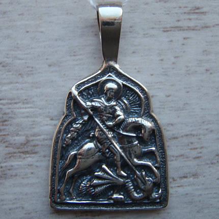 Серебряная подвеска-ладанка Георгий Победоносец, фото 2