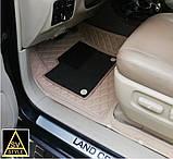 3D Килимки на Volkswagen Touareg (2002-2010) Шкіряні з Текстильними Накладками, фото 5
