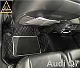 3D Килимки на Volkswagen Touareg (2002-2010) Шкіряні з Текстильними Накладками, фото 3