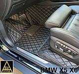 Оригінальні Килимки BMW X5 Е70 Шкіряні 3D (2006-2013) Тюнінг БМВ Х5 Е70, фото 3