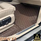 Оригінальні Килимки BMW X5 Е70 Шкіряні 3D (2006-2013) Тюнінг БМВ Х5 Е70, фото 9
