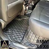 Оригінальні Килимки BMW X5 Е70 Шкіряні 3D (2006-2013) Тюнінг БМВ Х5 Е70, фото 10