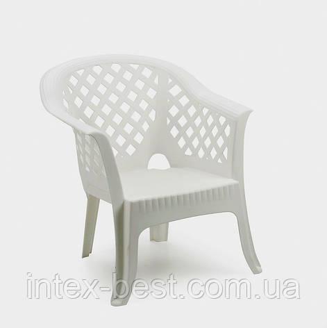 Пластиковое кресло Lario белое, фото 2