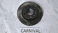 Дикс тормозной передний Carnival